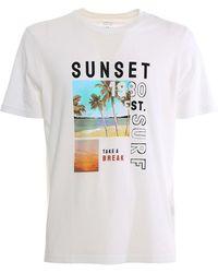 Altea Surf Print T-shirt - White