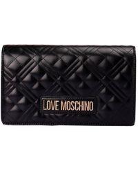 Love Moschino Borsa Trapuntata Con Logo Lettering - Nero