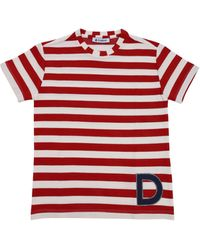 Dondup T-shirt With Marine Motif - Red