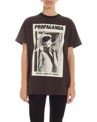 Acne Studios Propaganda Print T-shirt - Black