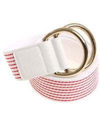 Ki6? Who Are You? - White And Red Striped Belt - Lyst