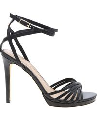 Guess Tonya Sandals In Black Leather