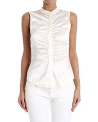 Theory - Ruched Fitted Top - Lyst
