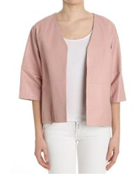 Ottod'Ame - Pink Leather Jacket - Lyst