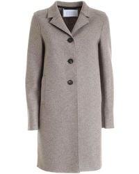 Harris Wharf London Virgin Wool Coat - Grey