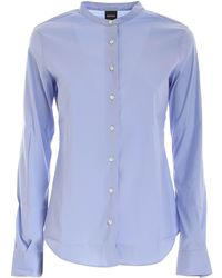 Aspesi Mandarin Collar Shirt - Blue