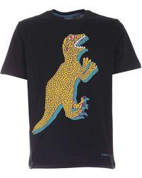 Paul Smith Dino Print T-shirt - Black