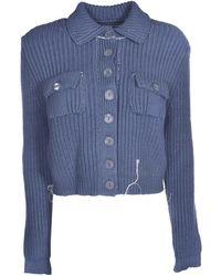 Maison Margiela Knitted Cardigan - Blue