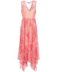 Twin Set - Floral Patterned Creponne Dress - Lyst