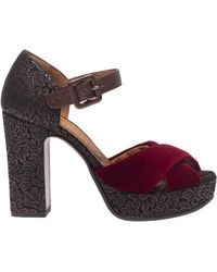 """Chie Mihara Sandalo Ankle Strap """"Bag"""" Bordeaux - Multicolore"""