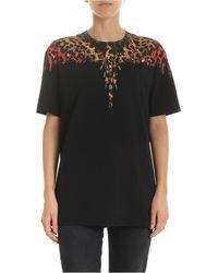 Marcelo Burlon T-shirt Leopard wings nera - Nero
