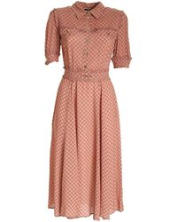Elisabetta Franchi - All-over Logo Dress - Lyst