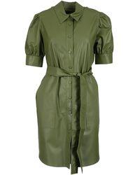 Twin Set Coated Shirt Dress - Green