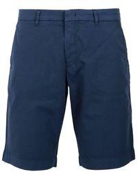 Fay Stretch Cotton Bermuda Shorts - Blue
