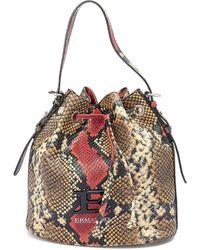 Ermanno Scervino Snake Print Leather Bucket Bag - Multicolour