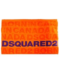 DSquared² Asciugamano Da Mare Logato Arancione