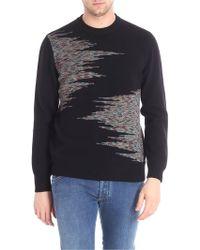 Missoni - Pullover nero intarsio multicolor - Lyst