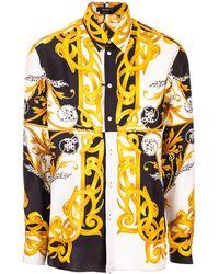 Versace Graphic Print Shirt - White