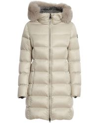 Colmar Quilted Tech Fabric Padded Coat - Natural