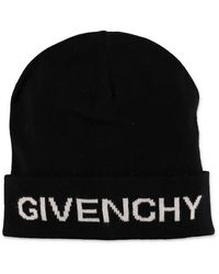 Givenchy Black Beanie With Logo