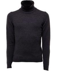 Zanone Turtleneck Virgin Wool Jumper - Grey