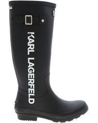 Karl Lagerfeld Kalosh Boots - Black