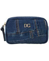 Dolce & Gabbana Denim Logo Belt Bag - Blue
