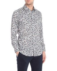 Etro - Mercurio Shirt With Multicolour Floral Print - Lyst