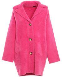 Pinko Kerner Faux Fur Coat Fuchsia - Pink