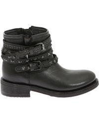 Ash Tatum Biker Boots - Black