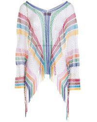 Missoni Drilled Cotton Poncho Multicolor