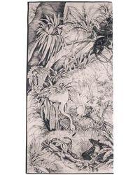 RED Valentino Jungle Toile Print Pareo - Black