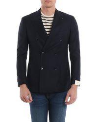 Luigi Bianchi Mantova Super 130's Wool Blazer - Blue