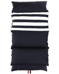 Thom Browne 4-bar Stripe Padded Scarf - Blue