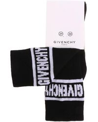 Givenchy Black Socks With White Logo Embroidery