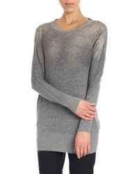 Ballantyne - Grey Pullover With Golden Coating - Lyst