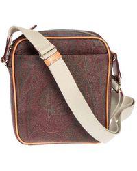 Etro Paisley Messenger Bag - Brown