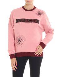 Pinko - Platino Pink Sweatshirt - Lyst