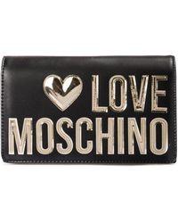 Love Moschino Tracolla Con Logo Lettering - Nero