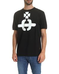 Vivienne Westwood Anglomania Orb Crew Neck T-shirt - Black