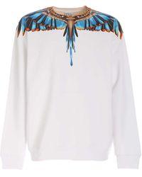 Marcelo Burlon Grizzly Wings Sweatshirt - White