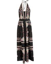 Twin Set Floral Print Dress - Black