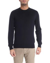 Cruciani - Blue Cashmere And Silk Pullover - Lyst