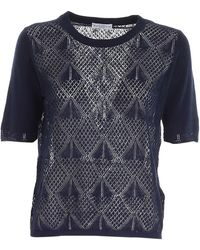 Ballantyne Drilled Sweater - Blue