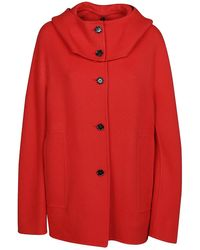 Marni Cashmere Oversized Coat - Red