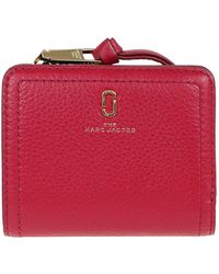 Marc Jacobs The Softshot Mini Leather Wallet - Red