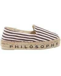 Philosophy Di Lorenzo Serafini Striped Espadrilles - Brown