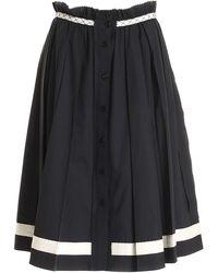 Moschino Pleated Skirt - Black