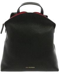 Lulu Guinness - Peekaboo Lip Val Black Backpack - Lyst