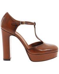 L'Autre Chose T-bar Sandals - Brown